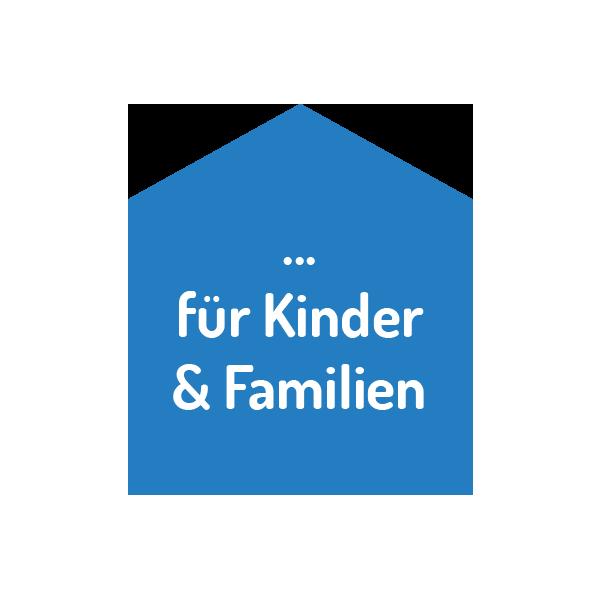 Wir sind da für Kinder und Familien. Zu den Angeboten.